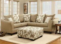 Gothic Cabinet Craft - Warren Microfiber Sectional Sofa,
