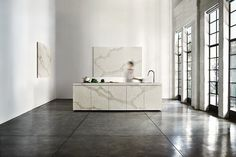 AG - here's what we're thinking for the kitchen countertops and backsplash.    5131 Calacatta Nuvo - Caesarstone
