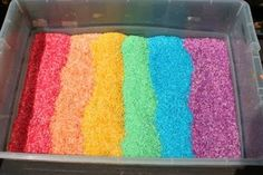 Rainbow rice!  Can't wait to make it!