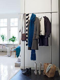 Pequeño piso escandinavo en verde y azul | La Garbatella: blog de decoración de estilo nórdico, DIY, diseño y cosas bonitas.