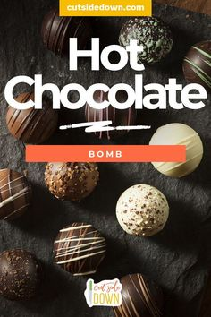 Then it's time you try making a delicious Hot Chocolate Bomb! Hot Chocolate Gifts, Homemade Hot Chocolate, Hot Chocolate Bars, Hot Chocolate Mix, Hot Chocolate Recipes, Melting Chocolate, Homemade Food, Diy Food, Holiday Desserts