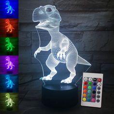 Dinosaur Night Light 3D Brontosaurus Kids Room Baby Sleeping LED Gift T-Rex Cool