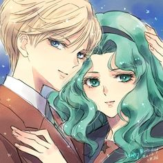 (notitle) - Love is love - Sailor Moon Girls, Sailor Moon Art, Sailor Moon Crystal, Sailor Neptune, Sailor Uranus, Sailor Mars, Haruka And Michiru, Avatar, Drawing Reference Poses