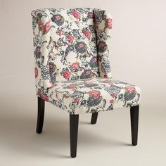One of my favorite discoveries at WorldMarket.com: Laurant Floral Tufted Delilah Wingback Chair