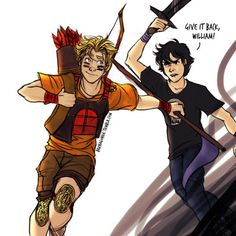Nico di Angelo and Will Solace fanart