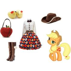 """RACHEL YOU NEED TO SEE THIS. (""""Someone made an Applejack loli polyvore!"""")"""