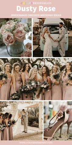 dusty rose wedding Dusty Rose Bridesmaid Dresses Dusty rose bridesmaid dresses long, great for weddings with dusty rose and greenery wedding bouquets and shoes, flatter white bridal gown and light grey men's suit. Dusty Rose Bridesmaid Dresses, Dusty Rose Dress, Affordable Bridesmaid Dresses, Bridesmaid Bouquets, Flattering Bridesmaid Dresses, Bridesmaid Color, Bridesmaids, Sage Green Wedding, Dusty Rose Wedding