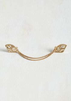 What's the Plan, Fan? Collar Pin. You know you want to rock this vintage-inspired collar pin today. #gold #modcloth