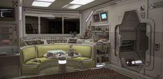 Spaceship Interior, Futuristic Interior, Spaceship Design, Futuristic Design, Blender 3d, Devon, Millenium, Alien Spaceship, Sci Fi Environment