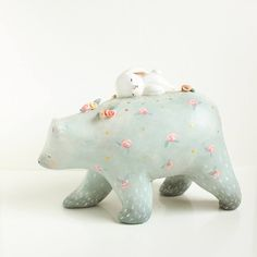 Inspiration. This one is ceramic, but I love soft colours + cuteness
