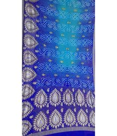Blue Georgette Banarasi Bandhani Saree------ The most sexy yet most graceful outfit in the world indeed Saree. Drape it in the way u want, they always makes u look beautiful. Looks extremely sophisticated, charming, and elegant. A big fan of sarees, always find a reason to drape one.----- http://luxurionworld.com/bandhani-saree/LWBNSSEP49_Blue_Georgette%20Banarasi%20Bandhani%20Saree.html