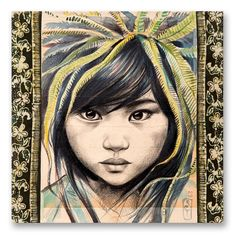Browse all products in the Tirages sur Toile - Canva Art Prints category from Stephanie Ledoux. Art And Illustration, Acrylic Painting Lessons, Mixed Media Painting, Collages, L'art Du Portrait, Travel Sketchbook, Ledoux, Art Fund, Paper Drawing
