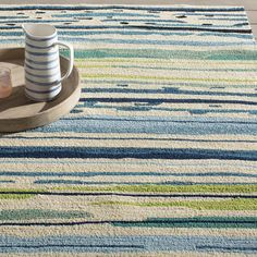 Angelina Blue/Green Abstract Indoor/Outdoor Area Rug