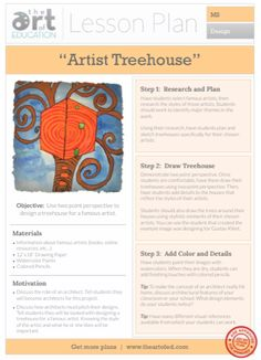 Artist Treehouse: Free Lesson Plan Download