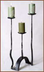 Custom candle holder by Burnett Forge www.burnettforge.com