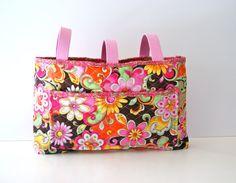 Quilted Floral Walker Tote Bag / Stroller Bag on Etsy, $23.00