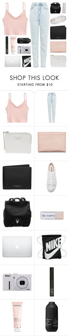 """T A N T U M"" by naturitve ❤ liked on Polyvore featuring WÃ¥ven, The Webster, Acne Studios, Michael Kors, Proenza Schouler, NIKE, Nikon, NARS Cosmetics, Darphin and Living Proof"