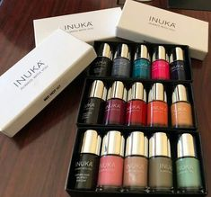 Inuka range of color stay nail polishes. You can achieve 2 looks with one color.Matt or shiny. Nail Polishes, Nails, Perfume, One Color, Range, Lipstick, Cosmetics, Entrepreneurship, Fragrances