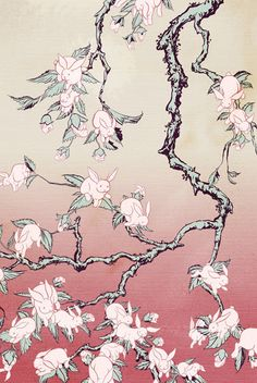 """Bunny Blossom,"" like Van Gogh's ""Almond Blossoms,"" but with bunnies."
