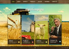 Agro Company Ajax HTML5 Template 300111626 by Dynamic Template