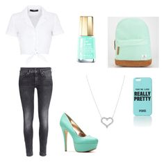 """""""Untitled #524"""" by tva-lpz ❤ liked on Polyvore featuring H&M, Volcom, Mavala, Hallhuber and Tiffany & Co."""