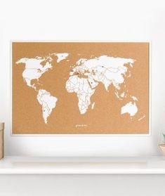 Los mapas hechos de corcho son perfectos para las personas que les gusta viajar. Son el regalo ideal para los amantes de los viajes que quieran guardar los recuerdos de sus aventuras.