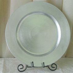 Wholesale Flowers has the largest supply of wedding accessories and decor pieces in San Diego, including these fantastic Diner Charger Plates. Available in an assortment of Metallic colors, these are perfect for you next special event! Silver Charger Plates, Metallic Colors, Flower Delivery, Fall Wedding, Wedding Ideas, Tableware, Holiday Ideas, Tent, Bridal Shower