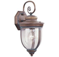 Livex Lighting 2561 1 Light 100W Outdoor Wall Sconce with Medium Bulb Base and Seeded Glass from Windham Series