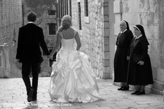Dubrovnik Old Town wedding, moment captured by Veronica arevalo