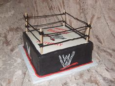 cake idea for tyler's wwe party