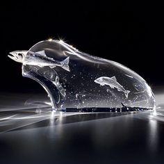 Jim Houston Steuben glass, Running River