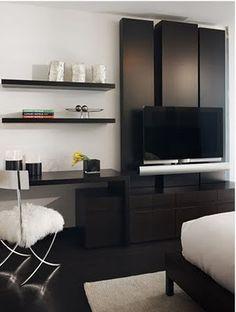 painel tv mais escrivaninha