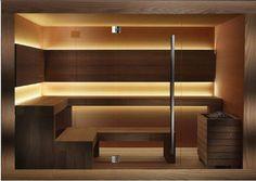 carmenta srl  banja Sauna Design, Gym Design, Sauna Lights, Gym Lighting, Sauna Steam Room, Home Spa, Pool Houses, Saunas, Architecture Design