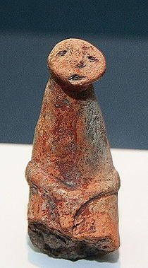 http://en.wikipedia.org/wiki/Cucuteni-Trypillian_culture Anthropomorphic Cucuteni-Trypillian clay figure
