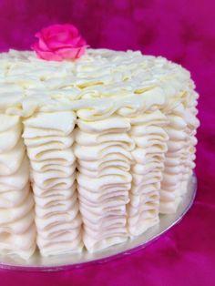 Pretty Pink Rose Cake