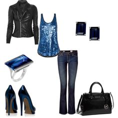 This is the kind of party outfit I would wear!  :)  Perfect for a concert or night on the town.
