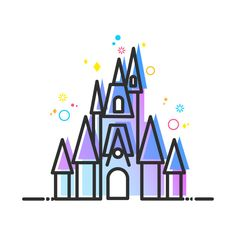 Check out this awesome 'Fairytale+Magic+Castle+Vector+Artwork' design on Disney Castle Drawing, Disney Castle Tattoo, Disney Drawings, Wallpaper Iphone Cute, Disney Wallpaper, Cute Wallpapers, Instagram Logo, Instagram Story, Disney Love