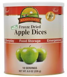 Augason Farms Emergency Survival Food Freeze Dried Apple Dices 8 Oz  $25.99