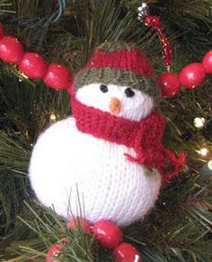 Little Snowman knitting tutorial for Christmas