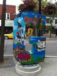 Streets Alive Letters Street-Art in Orillia Ontario