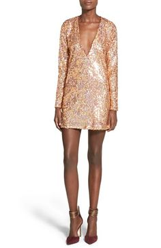 Missguided Sequin Shift Dress available at #Nordstrom