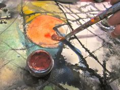 How to do Watercolor & Ink Geo painting.