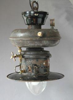 Petromax factory loft light vintage lamp antique steampunk gas German steam OLD!