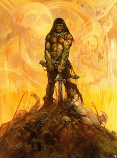 Frank Frazetta, the King of Fantasy art. All others are pretenders to the throne. This is his Conan, the definitive Conan.