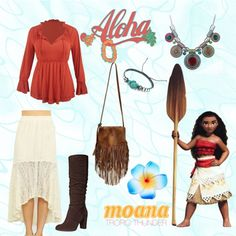 Disney Bounding With The Disney Fashionista- Tropic Thunder Moana! Disney Bound Outfits Casual, Moana Outfits, Disney Outfits, Disney Dresses, Princess Inspired Outfits, Disney Inspired Fashion, Character Inspired Outfits, Girl Fashion, Fashion Outfits