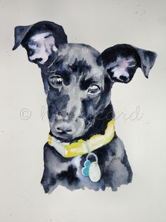 CUSTOM DOG PORTRAIT - Original Watercolor 11 x 15