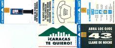 5 Phonecard / Tarjetas Telef Venezuela Cantv Publicidad
