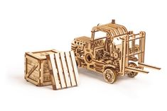 Forklift wooden mechanical model for children and adults. Perfect Gift For Him, Gifts For Him, Wooden Model Kits, Creative Thinking Skills, Making Wooden Toys, Money Box, Wooden Puzzles, Diy Toys, Best Gifts