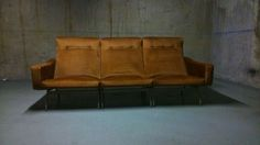 Rare Joseph André Motte Tryptic Sofa - Steiner Editions- France 1957 | From a unique collection of antique and modern sofas at http://www.1stdibs.com/furniture/seating/sofas/