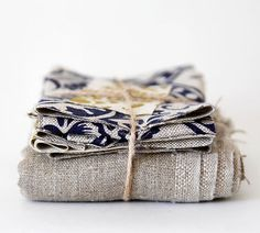 Scrap fabric  linen grey scraps pack 10oz by pillowlink on Etsy, $8.50